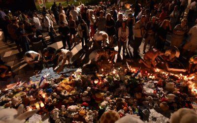 Hommage aux victimes des attentats du 14 Juillet à Nice