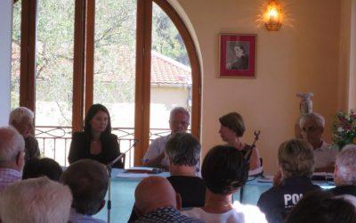 Rencontre avec l'association de la colline de Saquier au Château de Bellet