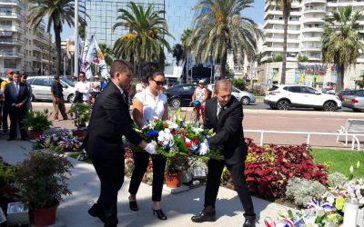 Recueillement et hommage aux victimes lors du 48è anniversaire du crash de la Caravelle Nice-Ajaccio