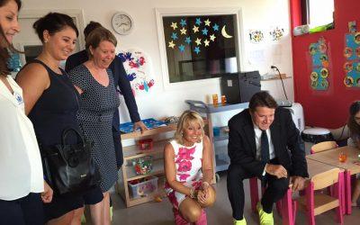 Rentrée scolaire: inauguration de la crèche Candiss et Cigaline