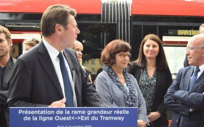 Présentation de la rame grandeur réelle de la nouvelle ligne de Tramway Ouest-Est