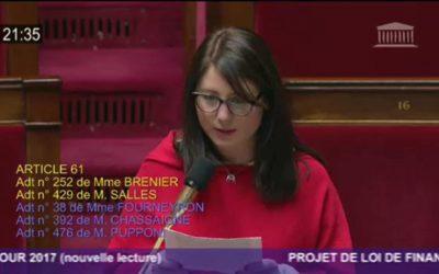 Projet de loi de finances : défense de mon amendement à l'Assemblée nationale