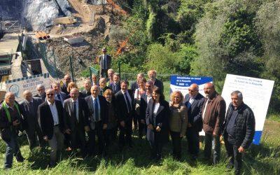Visite du tunnel en construction de la Roquette-sur-Var