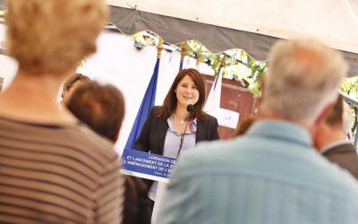 Inauguration de la première phase des travaux d'aménagements de l'entrée du Village de Clans