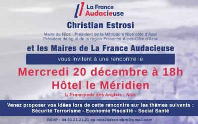 Rendez-vous demain pour un échange avec les élus de La France Audacieuse !