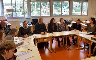 Conseil de classe à l'école de la Corniche Fleurie