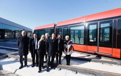 Première rame de tramway de la ligne Ouest-Est: une révolution en route dès le 30 juin