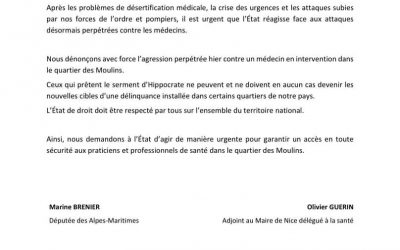 Agression inacceptable aux Moulins !