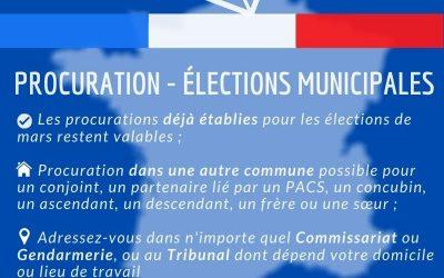 Élections municipales – PROCURATION🗳