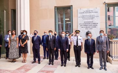 Visite du Ministre de l'Interieur, Gerald Darmanin à Nice