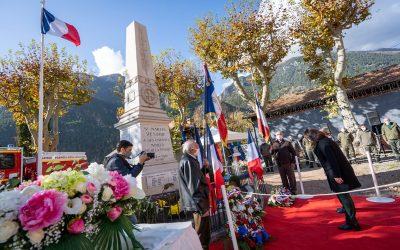 Commémorations du 11 Novembre dans les vallées de la Tinée et de la Vésubie