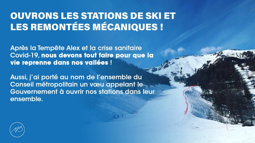 station de ski ouverture alpes maritimes