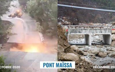 Pont Maïssa : mise en service du pont provisoire