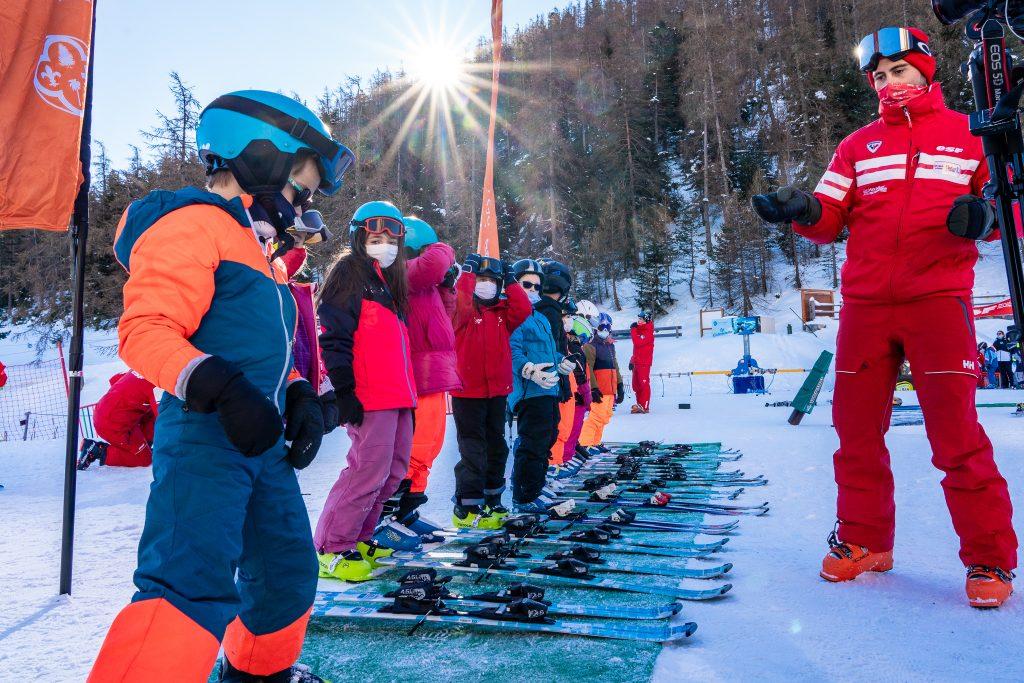 Moniteur de l'école de ski français de la Colmiane