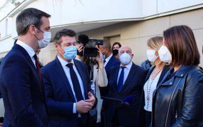 Covid-19 : Visite de M. le Ministre Olivier Véran à Nice