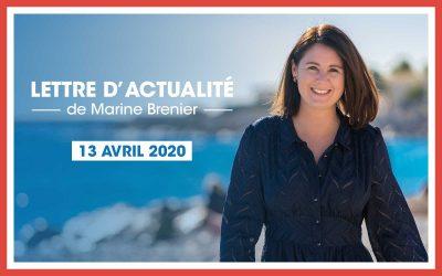 Lettre d'actualité de Marine Brenier – 13 Avril 2021