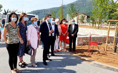 Visite de chantier du rond point de Saint-Martin-du-Var