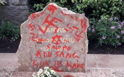 Dégradations des stèles de Simone Veil